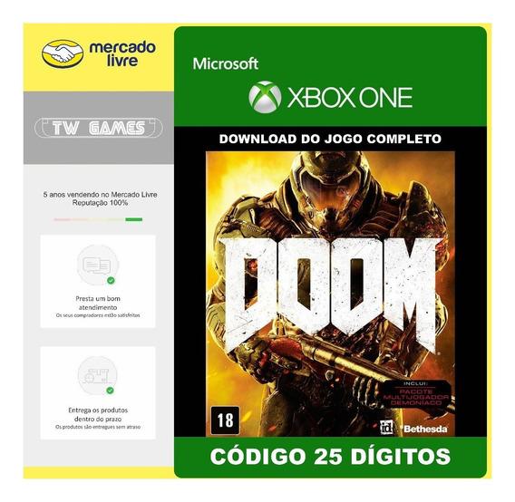 Doom Codigo 25 Digitos Original Xbox One
