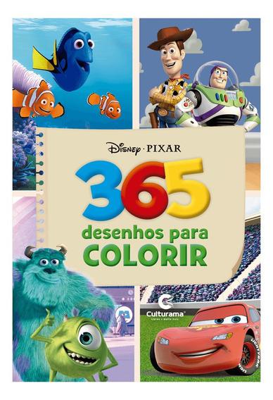 Livro Para Colorir 365 Desenhos Disney Pixar Culturama