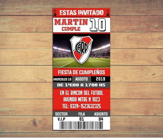 Invitaciones River Plate - Texto Editable