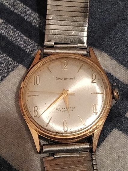 Reloj Towncraft Waterproof 17 Jewels Vintage Swiss Made