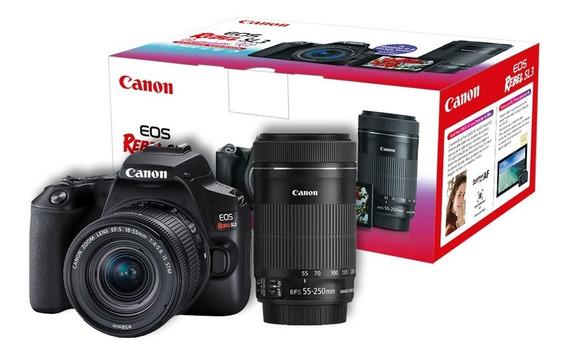 Câmera Canon Sl3 Premium 4k+18-55 Stm+55-250 Stm Revenda Nfe