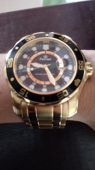 Relógio Ferrari Dourado Masculino