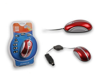 Mini Mouse Usb Retractil Ngm-113 Usb + Ps2 Pc Y Notebook