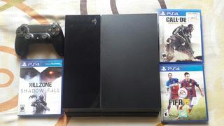 Playstation 4 500gb + Killzone Cod Advanced Warfare Fifa 15