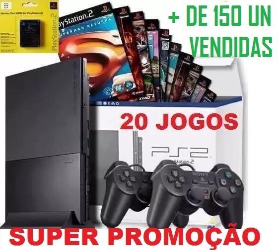 Play 2 Preço + Barato+2 Controles+20 Jogos+memory+garantia