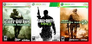 Juegos Xbox 360,xbox One Saga Call Of Duty Modern Warfare!!