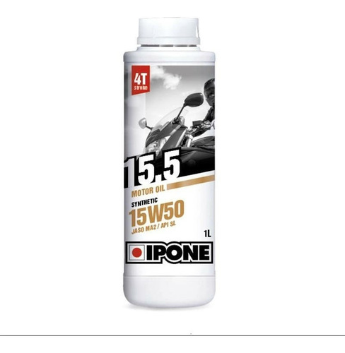 Imagen 1 de 2 de Aceite Semisintético Moto Ipone 4t 15w50  Devotobikes