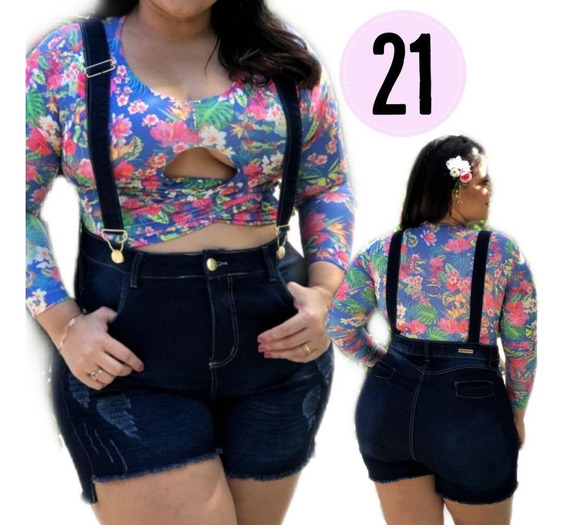 Short Shortinho Jeans Lycra Plus Size Collection Remember 21
