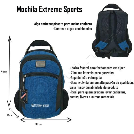 Mochila Extreme Sport Escolar Juvenil Xfp-1708