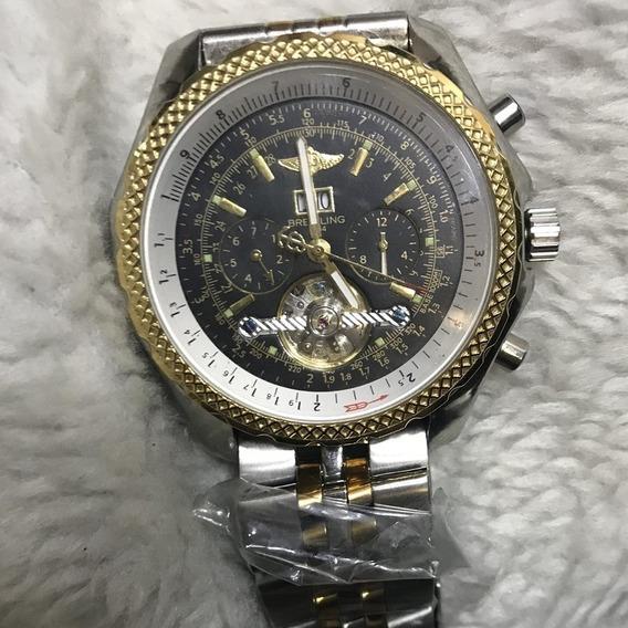 Relógio Masculino Breitling Pulseira De Aço Beipa-005