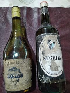 Dos Botellas Cerradas De Licor Negrita Yde Coñac Otard Dupuy
