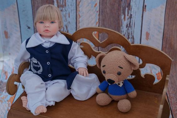 Bebe Reborn Menino Principe Enxoval+bolsa Maternidade Barato