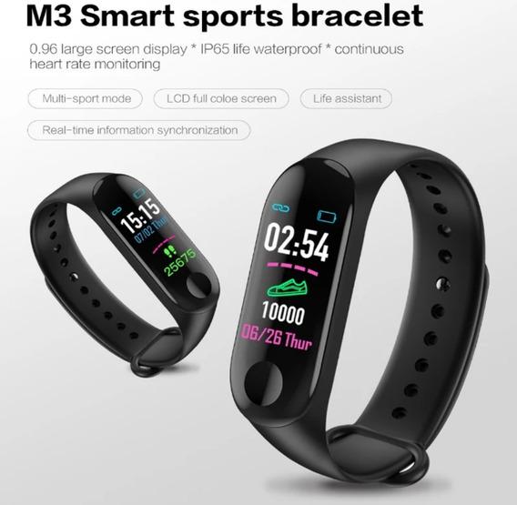 Pulseira Inteligente Relógio Smartband M3 Manitor Cardíaco