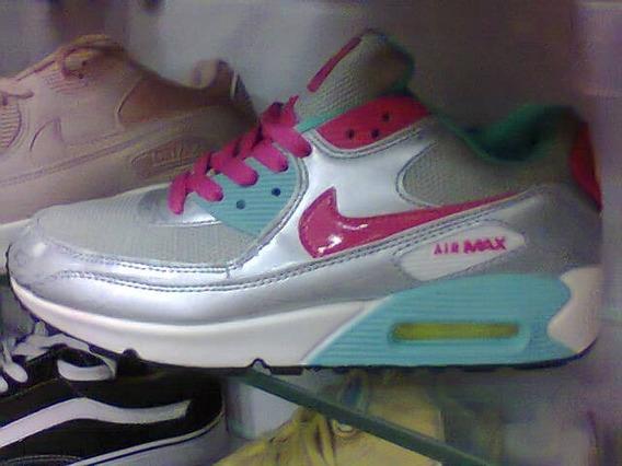 Tenis Nike Air Max 90 Prata E Rosa Nº37 Original