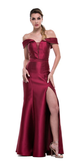Vestido Zibeline Sereia Azul Rose Gold Marsala Royal Marinho