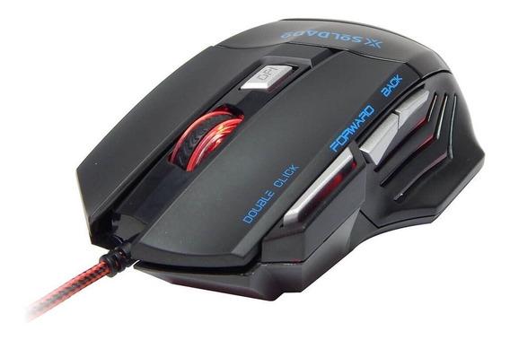 Mouse Gamer Soldado 3000 Dpi Gm-700 7 Botões Com Fio Originl