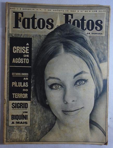 Revista Fatos E Fotos Pelé N°80 1962