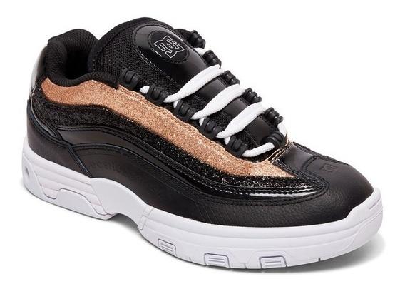 Zapatillas Dc Shoes Mod Legacy Lite Negro Dorado Mujer