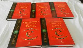 Enciclopedia Tematica Espasa Completa 5 Tomos Siglo Xxi