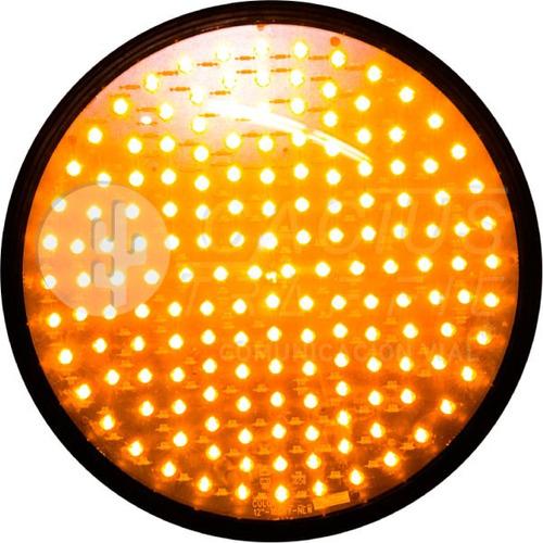 Imagen 1 de 2 de Lámpara De Semáforo Led Mica Transparente 30 Cm Ambar