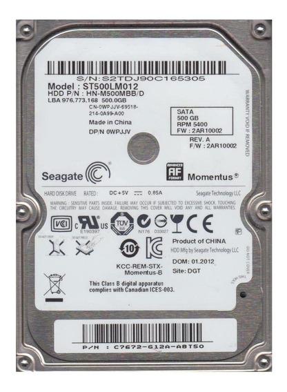 Disco rígido interno Seagate Momentus ST500LM012 500GB