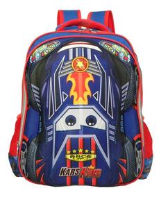 Mochila Escolar Infantil Maculino Costas Formula 1 Kars Kids