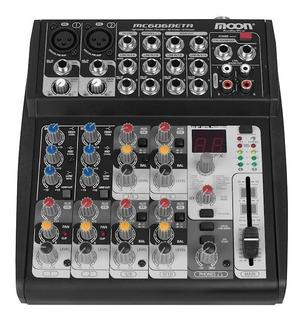 Consola Mixer Moon Mc606beta 6 Canales 16 Efectos Digitales
