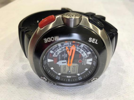 Relógio Masc. Colecionador Citizen Eco Drive Mergulho Jv0020