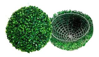 Topiario 25cm Esfera Bola Follaje Sintético Decoración Verde