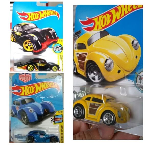 Lote Vw - 3 Fusca - 1/64 - Hot Wheels