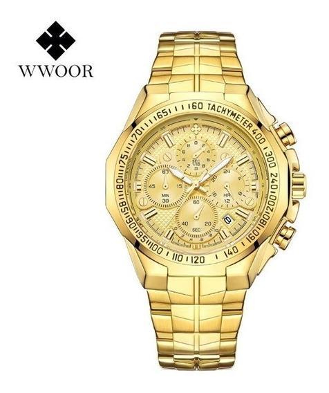 Relógio Masculino Original Wwoor 8868 Frete Grátis + Brinde
