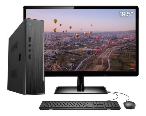 Imagem 1 de 5 de Pc Completo Monitor Intel Dual Core 4gb + Ssd Windows 10 Pro