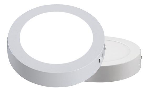 Lampara Sobreponer Led 9w Plafon Luz Blanca Redonda 12cm