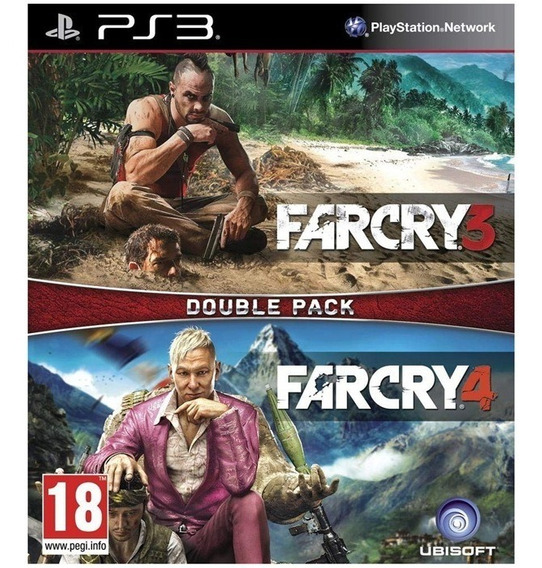 Far Cry 3 + Far Cry 4 Double Pack - Ps3 -novo - Mídia Física