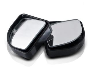 Espejos Punto Ciego 2x2 Medialuna Negro Plateado X2
