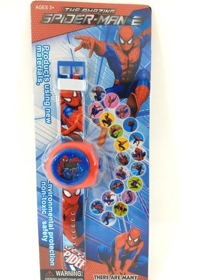 Relógio Homem Aranha Infantil Projetor De Figuras Promoção!!