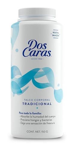 Talco Dos Caras Tradicional 150g / 1pza.