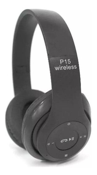 10 Kit Fone Headphone P15 Mp3 C/ Bluetooth Rio Cristal