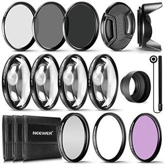 Neewer® 58mm Kit De Accesorios De Filtro De Lente Completo