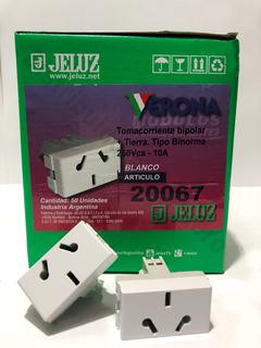 Modulo Toma Bi Uso Jeluz Verona Blanco X 50 Unidades 20067