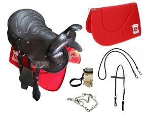 Sela Completa Adulto+ Manta + Freio Inox Para Cavalo - Cela