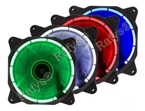 Cooler Led Ring Pc Gamer 120mm Fan Gabinete Azul Vermelho