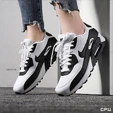 Tenis Nike Air Max 90 Blanco C Negro # 24 Y 24.5 Cm