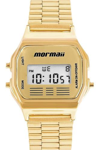 Relógio Mormaii Vintage Digital Mojh02ab/4d Dourado