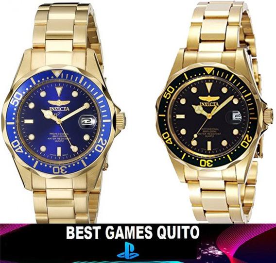Reloj Invicta 8937 Azul Pro Diver Acero Gold Inoxida/sellad