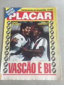 Revista Placar - Edição Extra - Poster Vasco Bicampeão 1988