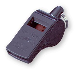 Acme Unisex Thunderer silbatos de pl/ástico Negro