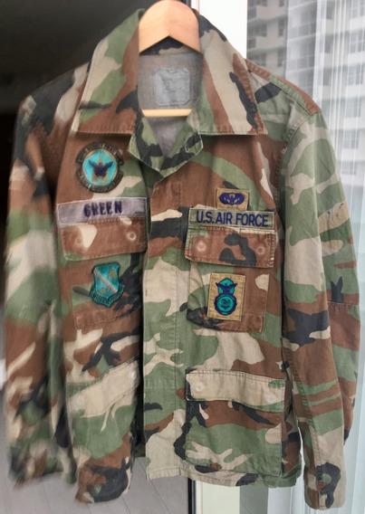 Chaqueta Militar Original U S Air Force Woodland C/parches