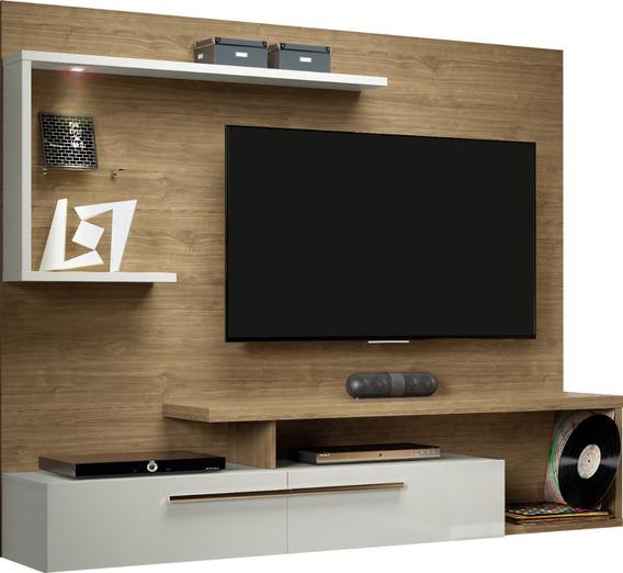 Panel Para Tv Floripa Avellana Salas Mueble Para Tv Moderno
