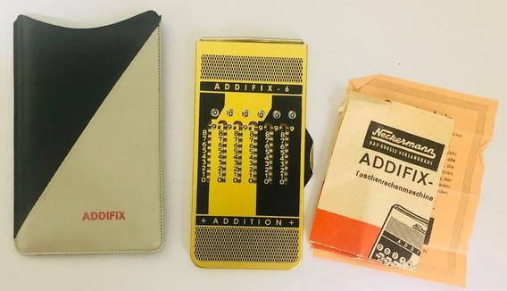 Calculadora De Bolso Antiga Addifix Soma Subtrai Funcionando